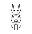 isolated doberman avatar vector image