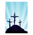 jesus on cross vector image