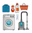 laundry icon set vector image
