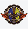 mask lucha libre vintage design vector image vector image
