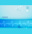 mecial background with electrocardiogram heart vector image vector image