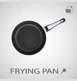 metal frying pan isolated on a white background vector image