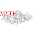 myth word cloud concept vector image vector image