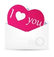 Open envelope with hearts vector image vector image