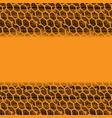 orange tire track grunge background vector image