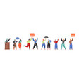 people involved in politics flat isolated vector image