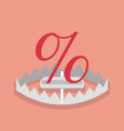 percentage sign mark in trap vector image