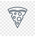 pizza piece concept linear icon isolated on vector image