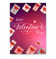 poster for happy valentines day calligraphic vector image vector image