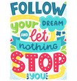 poster with phrase and decor elements vector image vector image