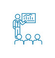 presentation of analyst linear icon concept vector image vector image