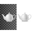 realistic porcelain teapot with lid vector image