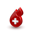 Red blood medical icon vector image vector image