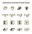 rodeck and drainage equipment icon set design vector image vector image