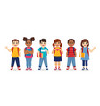 school children set vector image