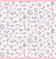 seamless pattern with education back vector image