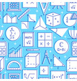 seamless pattern with mathematics symbols in line vector image