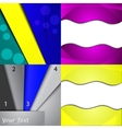 Set of bright abstract backgrounds Design eps 10 vector image