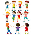 set of children dancing vector image vector image