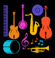 set of musical instruments jazz blues and vector image