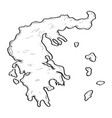 sketch of a map of greece vector image vector image