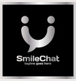 smile chat logo - happy people vector image vector image