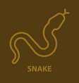 snake logo template vector image vector image