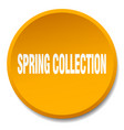spring collection orange round flat isolated push vector image vector image