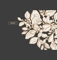 template black white nature vector image vector image