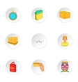Transfer icons set cartoon style vector image