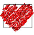 valentines love background with heart vector image vector image
