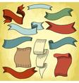 vintage ribbon 199 02 vector image vector image