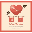 wedding card save the date heart love design vector image vector image