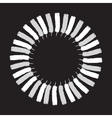 White painted feathers folded into a circle vector image vector image