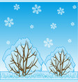 winter landscape of the nature and falling vector image vector image