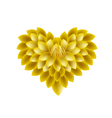 Yellow Dahlia Flowers in A Heart Shape vector image vector image
