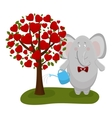 elephant waters a love tree vector image
