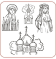 Orthodox religion - vector image