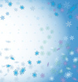 Winter background with snowflakes vector image