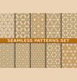 set of ten geometric seamless patterns vector image