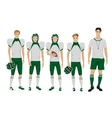 Young guys school american football team with vector image