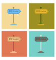 assembly flat icons park sign vector image vector image
