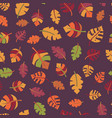 autumn leaf seamless pattern fall design vector image vector image