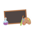 back to school blackboard test tube and color vector image vector image