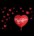 background with hearts for wedding or vector image vector image