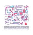 beauty salon procedures article page template vector image