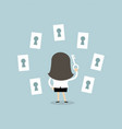 businessman 1108businesswoman choosing the right k vector image vector image