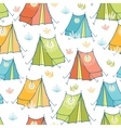 Camp tents seamless pattern background vector image vector image