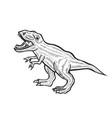 carnivorous dinosaur vector image