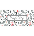 christmas poster flyer banner greeting card vector image